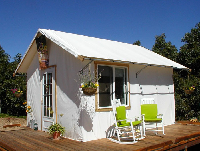 Attractive and versatile solutions for increasing your for Permanent tent cabins
