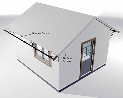 Bungalow Assembly Step 9