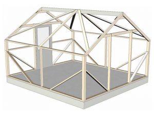Pioneer 10x12' wood frame