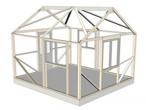 Sonoma 12x14' wood frame