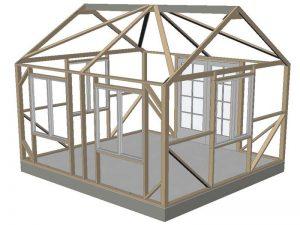 Vista 12x14' wood frame