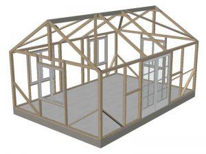Vista 14x20' wood frame